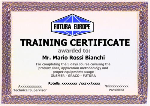 La Futura Europe rilascia certificati a coloro che frequentano i propri corsi